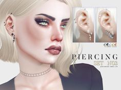 Sims 4 CC's - The Best: Piercing Set by Pralinesims