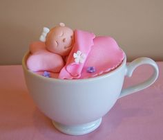 Sleep baby sleep cupcakes in a cup ~ cute baby shower favors