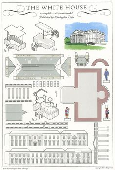 The White House, Washington, DC - Cut Out Postcard by Shook Photos, via Flickr