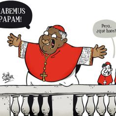 #Cartoons by Raúl Salazar. #illustration #ilustración #viñeta #cartoon #news #funny #drawing #humor #comic #Pope #Papa #BlackPope #Vatican #Vaticano #Iglesia #religion #Cristianism #Catholicism