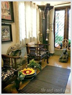 Last Trending Get all images home decoration indian style Viral a cdb eda eaee e dac Indian Interior Design, Small House Interior Design, House Design, Ethnic Home Decor, Indian Home Decor, Traditional Decor, Traditional House, Cheap Home Decor, Diy Home Decor