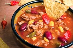 Slow Cooker Taco Soup - Great recipe shared by Diba D, and my community loves this recipe! www.GetCrocked.com