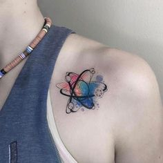 Science Tattoo Unique - In term of tattoo, watercolor tattoos are a unique form, which creates tattoo designs by means of blotches and splashes of color, instead Mini Tattoos, Trendy Tattoos, Body Art Tattoos, Small Tattoos, Sleeve Tattoos, Tattoos For Women, Cool Tattoos, Tatoos, Flower Tattoos