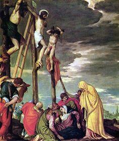 Paolo Veronese (1528-1588) Golgotha (ca.1588) - olieverf op doek 102 x 102 cm - Het Louvre