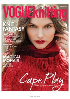 Vogue Knitting 2011  red hot trend