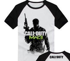 New Call of Duty White Color Cotton Slim Men