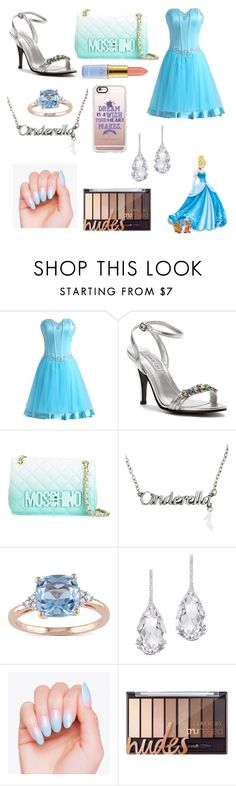 """cinderella disney look #2"" by cherlina-nelemans2003 on Polyvore featuring mode, Disney, Touch Ups, Moschino, Miadora, Plukka en Casetify"