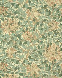 Honeysuckle Green/Beige/Pink från William Morris & Co. Denna tapet vill jag ska få pryda en eller flera väggar i mitt rum!