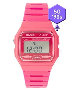 Casio F-91WC-4AEF Digital Pink Watch