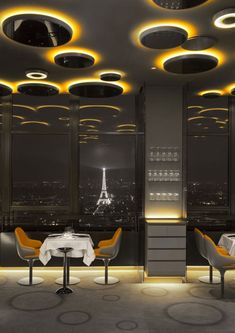 Named Ciel de Paris, the new restaurant is located on the 56th floor of the Montparnasse Tower, which at 210-metres-high is taller than everything else around it bar the Eiffel Tower.
