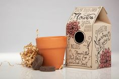 Grow Your Own Flowers Packaging by Kristen O'Callaghan, via Behance
