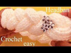 Aprende Como tejer una diadema a Crochet en punto de arabescos - Learn Crochet - YouTube