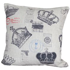 """18"""" Square Antique Style Cotton/Linen Decorative Pillow Cover – USD $ 9.99"""