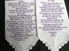 2 handkerchiefs with your poem machine by designsbyGloria on Etsy