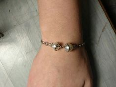 My diy pearl and silver bracelet