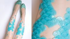 These mermaid tight are the perfect accessory for your mermaid Halloween costume!