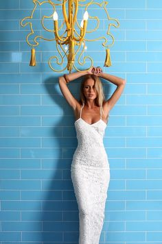 white lace maxi dress #ustrendy www.ustrendy.com