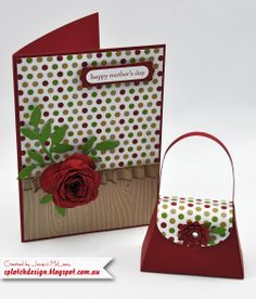 Splotch Design - Jacquii McLeay - Stampin Up - Mother's Day Card Purse Set