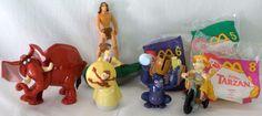 1999 McDonald's Tarzan Fast Food Toys - 8 Toys In All #McDonalds