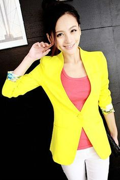 OEM service candy color long sleeve fashion jersey bodycon blazer for office/casual ladis/women coat from GZ