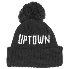 Only Ny Uptown Wildlife Beanie - Black at Urban Industry ($20-50) -... ❤ liked on Polyvore    SO CUTE