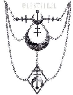 Restyle La Luna Goth Occult Alchemy Witch Silver Moon Crescent Pendant Necklace