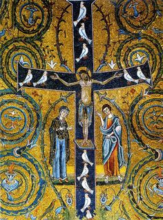 Tree of Life cross from the ancient Basilica of St. Clemente, Rome.