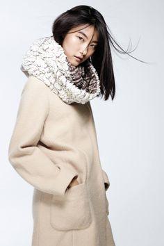 Ausaria 무한대 스카프, 나방 삶은 양모 스웨터 코트