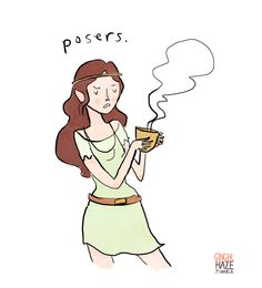 Hipster Arwen grinds her own coffee beans, and is judging the Hobbits.