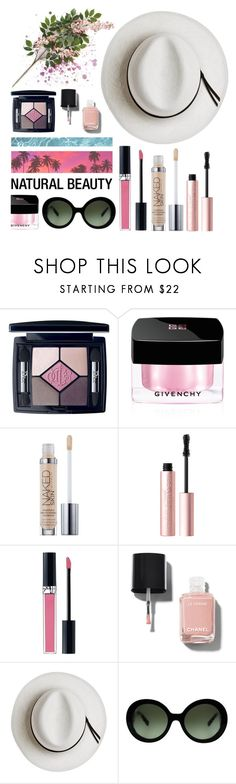 """""""Minimalist Beauty"""" by candygirllnm ❤ liked on Polyvore featuring beauty, Christian Dior, Givenchy, Urban Decay, Too Faced Cosmetics, Chanel, Calypso Private Label and Prada"""