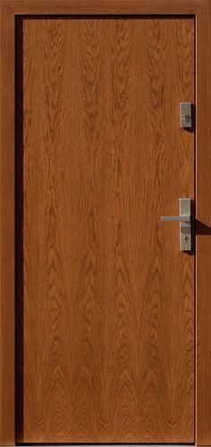 Dębowe wejściowe drzwi zewnętrzne 500C ciemny dąb