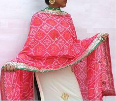 Shop for this beautiful bandhani, gota patti dupatta on suidhaaga.com