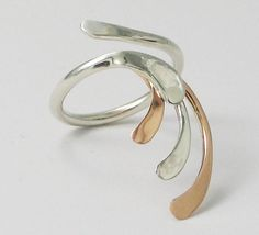 Handmade Silver Jewellery: Unusual Rings Natalie Holt – Fluidity Design for Breathtaking Handmade Silver Jewellery Natalie Holt of Fluidit. Handmade Silver Jewellery, Handcrafted Jewelry, Silver Jewelry, Purple Rings, Gold And Silver Rings, Unusual Rings, Unusual Jewelry, Red Gold, Heart Ring