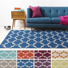 Make a statement in any room with the Colne Flatweave Moroccan Trellis Cotton Rug. This rug features an attractive trellis pattern that will enliven the look of your home.