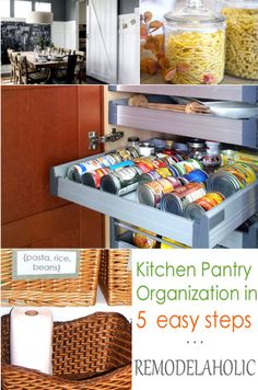Organize Your Pantry In 5 Easy Steps Kitchen Pantry, Kitchen Ideas, Ceramic Sink, New House Plans, Pantry Organization, Home Projects, Home Remodeling, Kitchen Remodel, Organize