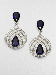 Adriana Orsini - Deco Triple Row Drop Earrings - Saks.com - $95