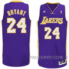 39c1249e6 Kobe Bryant Los Angeles Lakers  24 Revolution 30 Swingman Purple Jersey