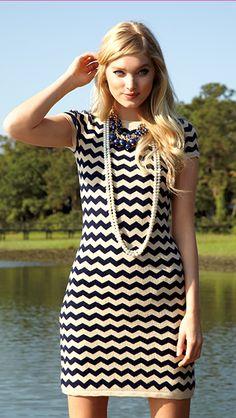 Chevron sweater dress // Lilly Pulitzer