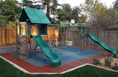playground surface rubber play tiles