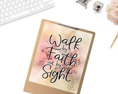 """Walk by faith not by sight"" Printable - spoonyprint Printable Bible Verses, Printable Quotes, Walk By Faith, Bible Quotes, Place Card Holders, Printables, Print Templates, Bible Scripture Quotes, Biblical Quotes"