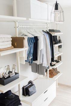 Passo a passo para um closet organizado.  Dicas para você que sonha com um closet organizado, mas não sabe por onde começar.