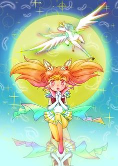 Sailor Moon / chibi Moon and Helios