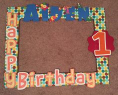 Baby First TV 1st Birthday Photo Booth Frame
