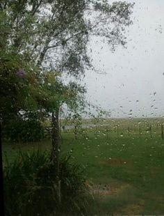 Lluvia sobre el cristal.