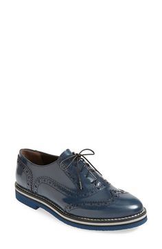 3d9cd5b9a Attilio Giusti Leombruni Brogue Oxford (Women) available at #Nordstrom Blue  Brogues, Women's