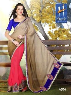 Product not found! Georgette Sarees, Magenta, Chiffon, Sari, Wednesday, Fabrics, Facebook, Brown, Fashion