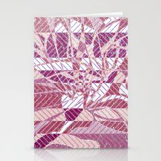 pink mosaic Stationery Cards