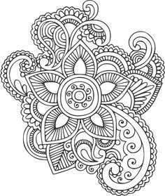 Free DIY cutting vector files SVG, etc Doodle Art Drawing, Zentangle Drawings, Mandala Drawing, Mandala Art, Zentangles, Flower Mandala, Art Drawings, Love Coloring Pages, Colouring Pics
