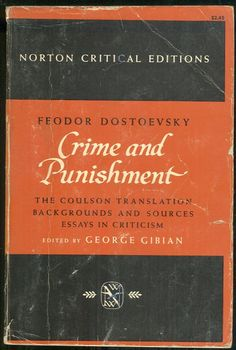 Crime And Punishment. Fyodor Dostoevsky.
