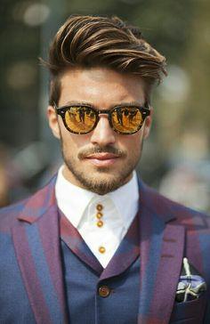 Amazing style by mariano di vaio. Popular Haircuts, Haircuts For Men, Popular Mens Hairstyles, Hairstyles Haircuts, Hairstyles For Round Faces, Cool Hairstyles, Latest Hairstyles, Undercut Hairstyles, Medium Hair Styles
